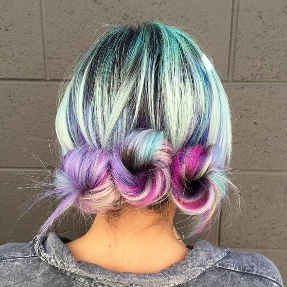 Style is a way of saying who you are without having to speak ! @catchies is definitely eye catching with her electrifying hair color  and funky hair buns ! Would you rock this hairstyle and color? Let us know in the comments !  #NuMeStyle #hairoftheday