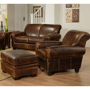 Similar style to the Pottery Barn Manhattan leather chair @Costco. Chair and ottoman for $1600