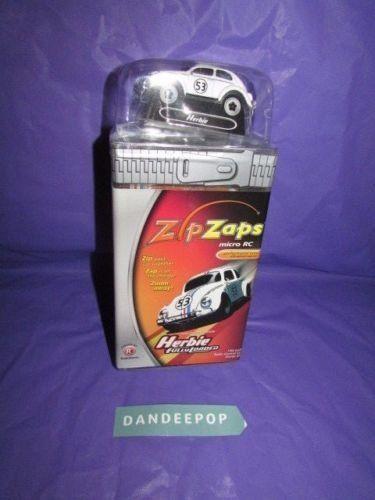 ZipZaps Herbie Disney Fully Loaded Micro RC Car Radio Shack 600-7075 New Toy #zipzaps #disney #herbiefullyloaded #herbie #toy #radioshack #rc #car #dandeepop