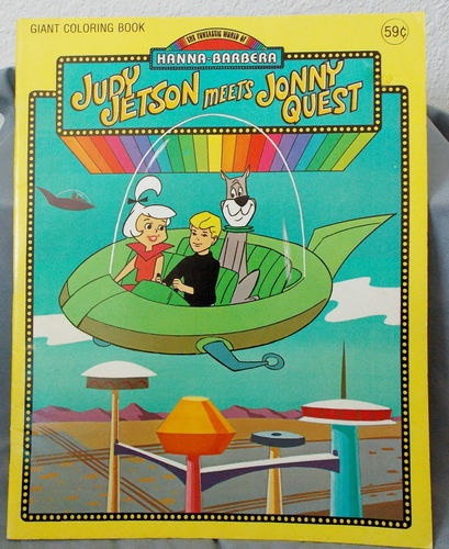 1977 Judy Jetson Meets Johnny Quest Giant Coloring Book Uncolored Vintage