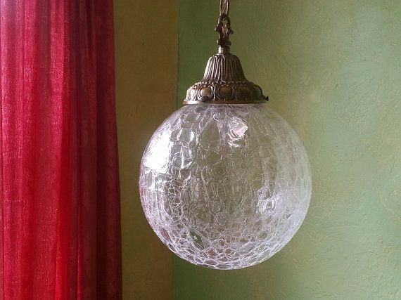 Clear Crackle Glass Lamp