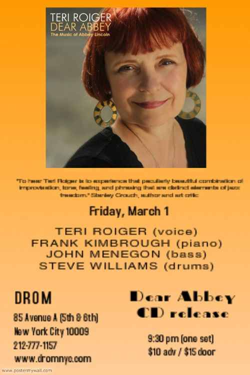Celebrating Abbey Lincolns Music For One Set At DROM On Avenue A In NYC Friday