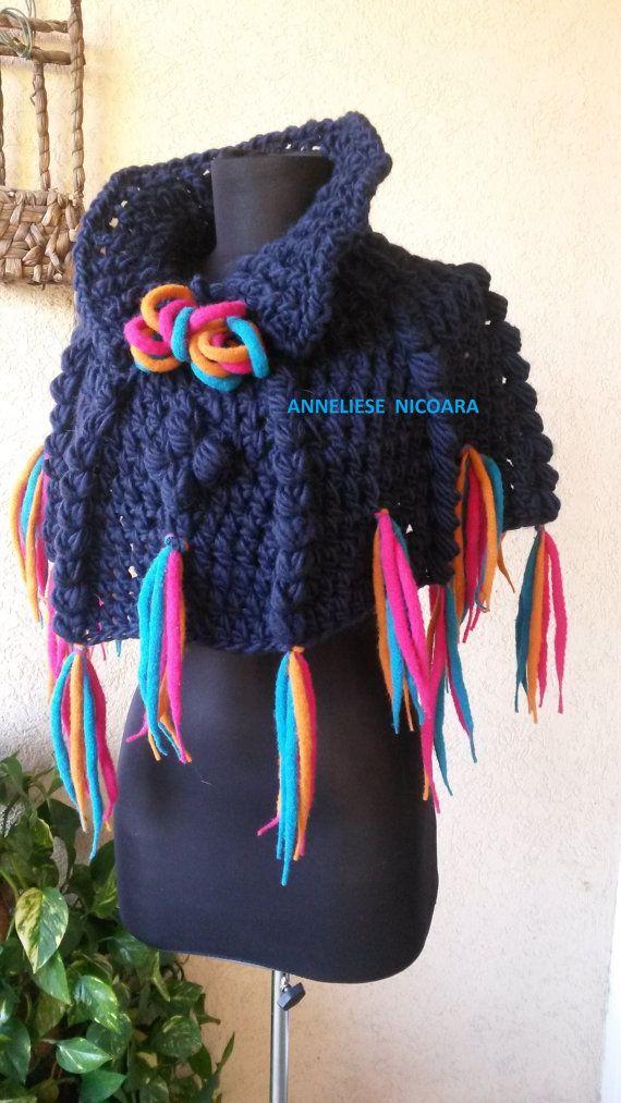 Sale OOAK Crochet Cape/Capelet/Short Poncho by AnnesMagicCrochet
