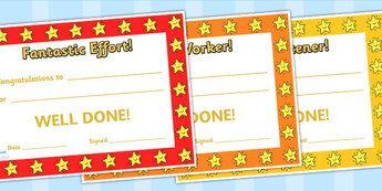 End Of Term Award Certificates - end of term, reward, award