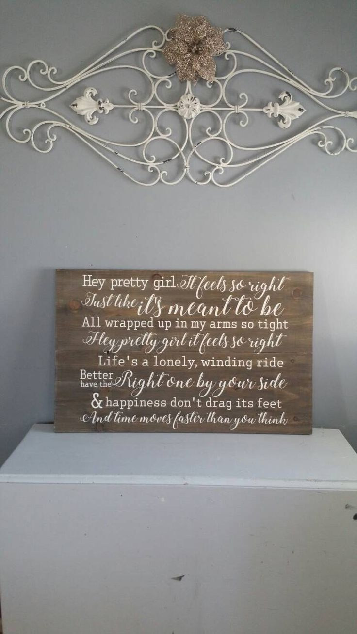 "18x30"" 'Hey pretty girl' song lyric sign by AprilBlossomDesigns on Etsy https://www.etsy.com/listing/457361642/18x30-hey-pretty-girl-song-lyric-sign"