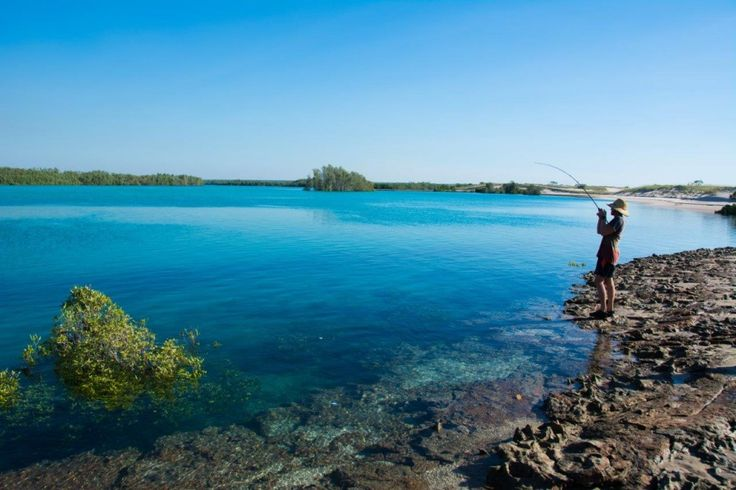 Fishing at Hunter Creek, Cape Leveque, with Brian Lee