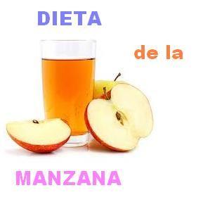 La dieta de la manzana: Como bajar de peso 4 y 7 kilos en una semana!  Esta dieta es especial para los que necesiten bajar de peso entre 4 y 7 kilos en una semana.   Esta dieta es hipocalorica, o sea tiene muy pocas calorias y se reduce así:  Día 1 En las cuatro comidas, debes comer todas las manzanas que quieras, o sea todo un dia solo de manzanas.