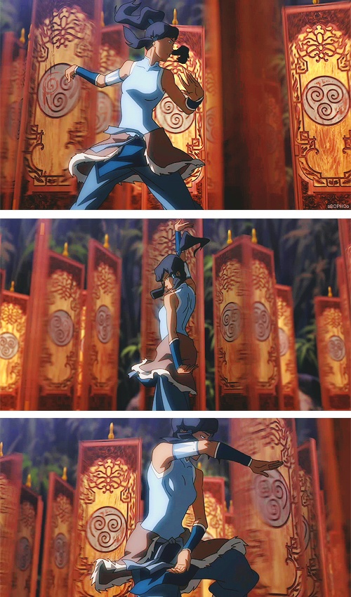 I love Korra's airbending training I wish we had seen Aang learn like this. Or maybe out Toph through it XD