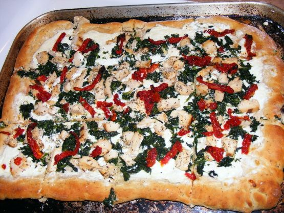 Chicken Florentine Pizza Recipe - Food.com: Food.com