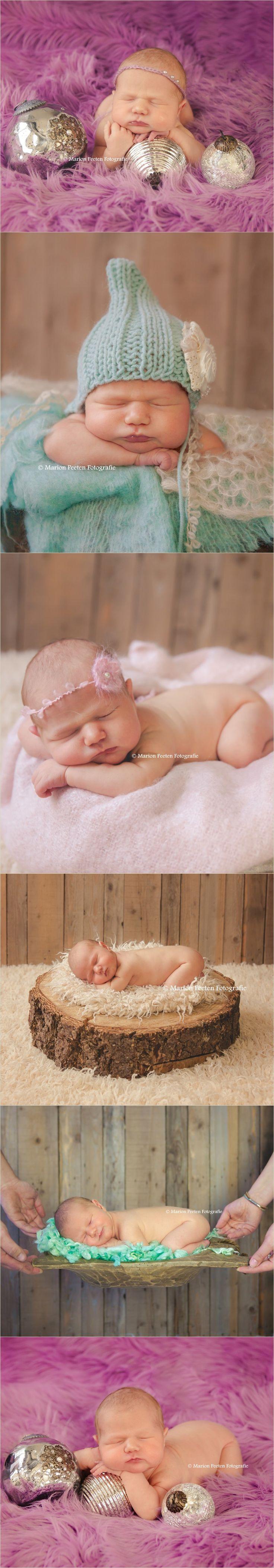 Newborn photography in studio Newborn fotografie in de studio. Newborn christmas picture. Newborn kerst foto