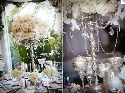candelabras with crystals