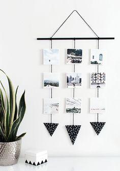 Interior: DIY orginele fotoslinger