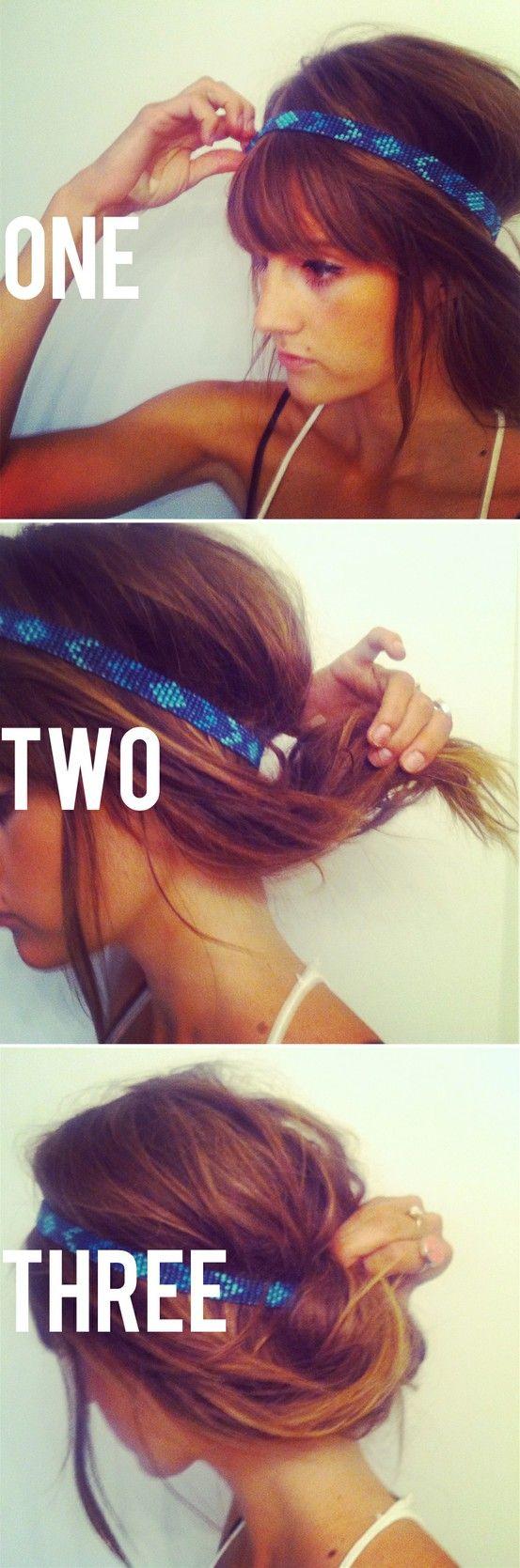 Beach ready: Hair Ideas, Boho Chic, Head Bands, Summer Hair, Festivals Hair, Hair Style, Headbands, Hair Color, Cute Hairstyles