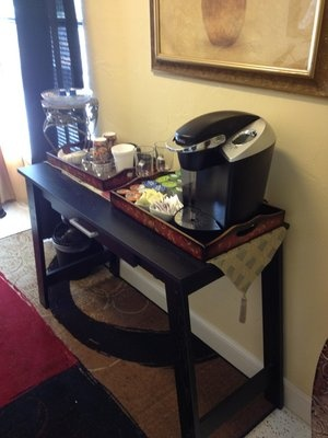 Coffee station in lobby ;-)