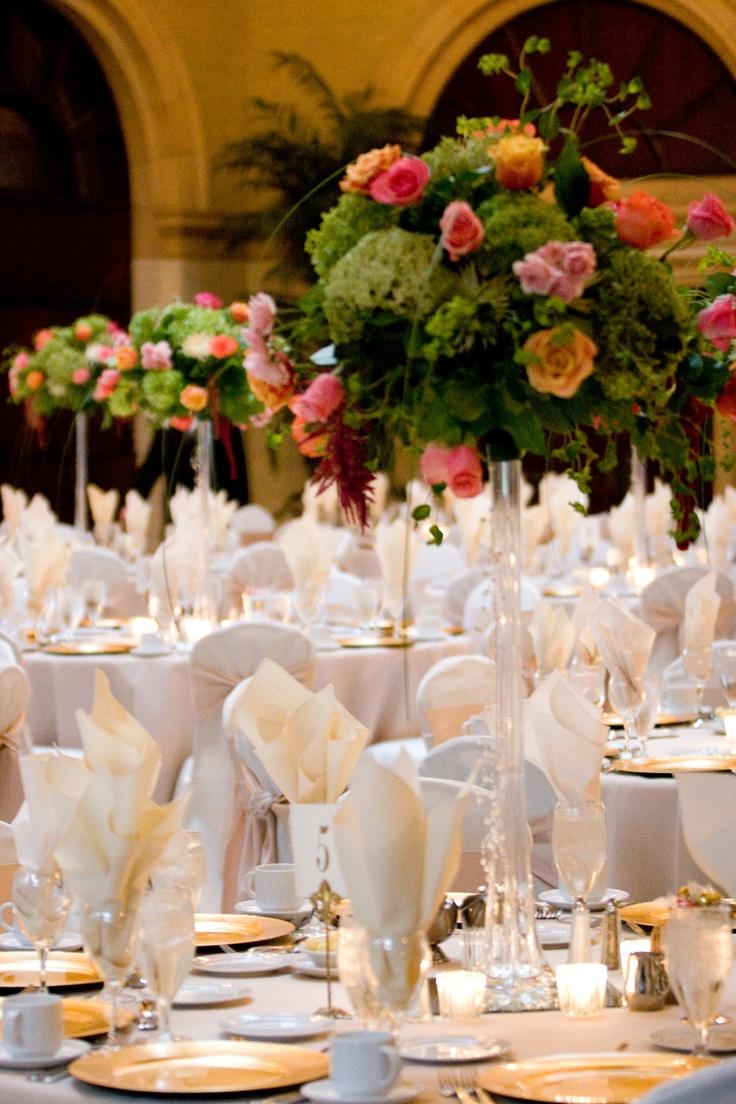Elegant, beautiful & unique silk floral centerpieces, silk table centerpieces & artificial floral centerpiece.