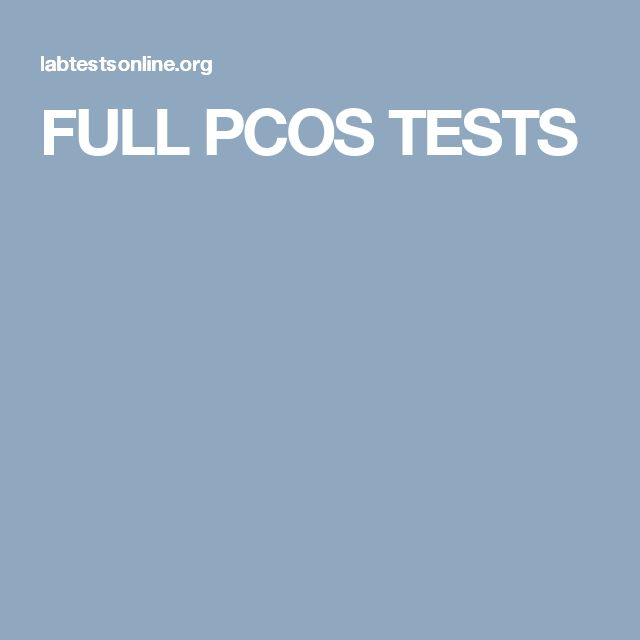 FULL PCOS TESTS