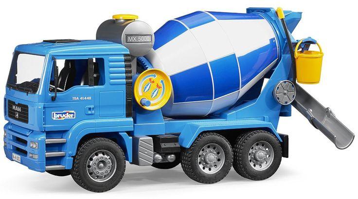 Stort de fundering van wolkenkrabbers en andere gebouwen met deze betonwagen van MAN.   Afmeting: volgt later.. - MAN TGA betonwagen Bruder