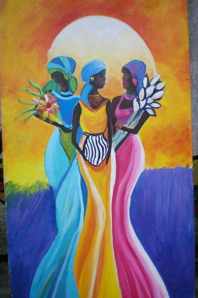 The Orishas Yemaya,Oshun and Oya. Santeria is an African Diaspora religion centered in Cuba. It recognizes a collection of deities known as orishas with whom human beings can interact.
