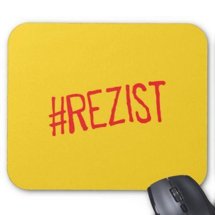 #rezist romania political slogan resist protest sym mouse pad - #office #gifts #giftideas #business