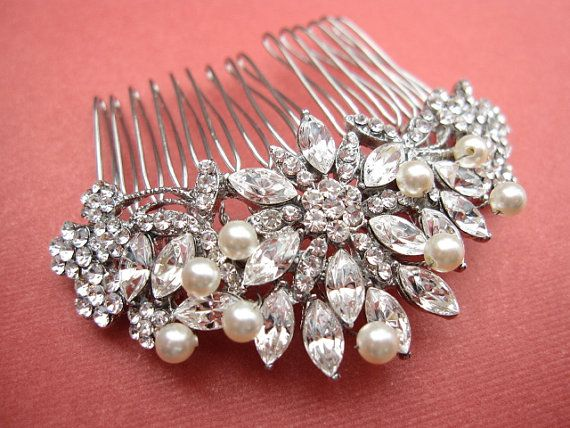 wedding hair piece,pearl bridal comb,bridal headpiece,wedding  hair accessories,weddings bridal accessories hair,wedding hair comb,crystal on Etsy, $49.00