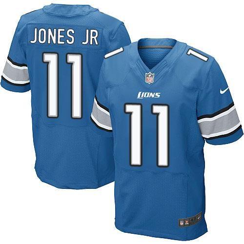 Cheap NFL Jerseys Wholesale - Nike Detroit Lions #11 Marvin Jones Jr Blue Team Color Men's ...