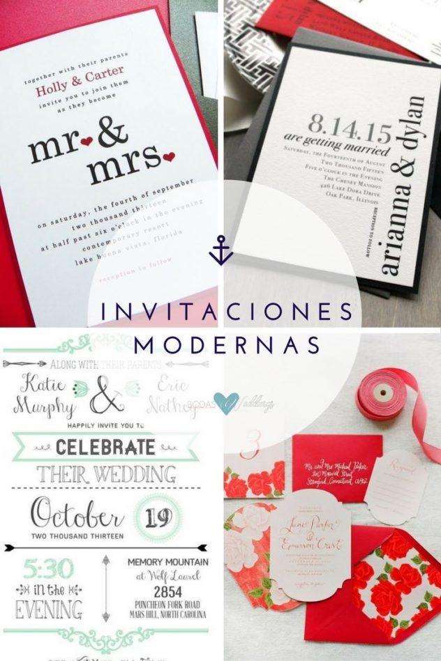 Un toque de rojo para una invitación simple y moderna   Elegancia urbana de BeaconLane   Plantillas de invitaciones para novias con poco presupuesto o sin tiempo!   Una invitación con el color más romántico de todos!