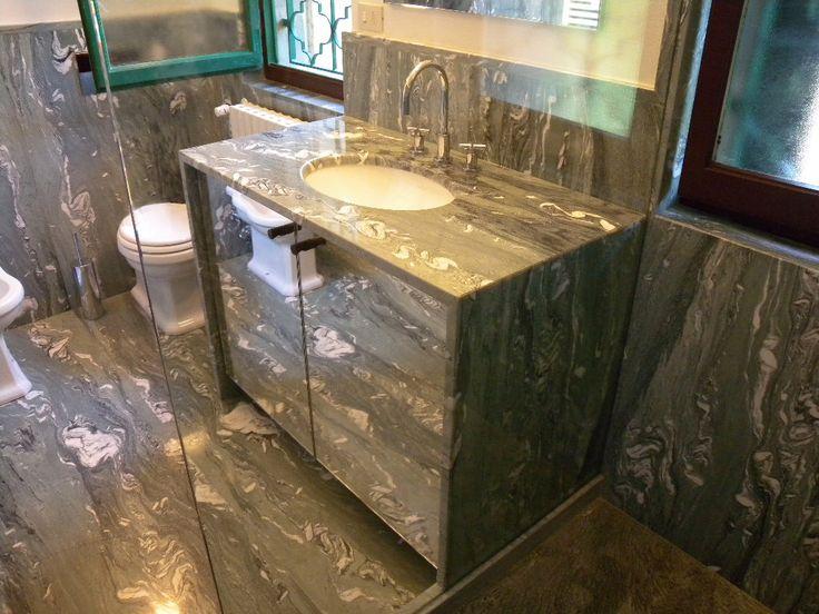 0002  REALIZZATO progetto mobile in marmo cipollino apuano