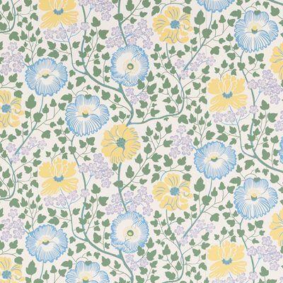 Wallpaper Sagoträdet - Paper, Sagoträdet, Blue, Josef Frank | Svenskt Tenn