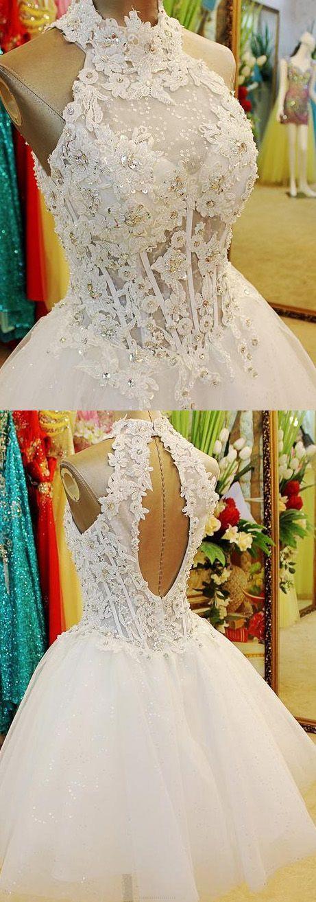 Short Prom Dresses, Sexy Prom dresses, Prom Dresses Short, Halter Prom Dresses, Ivory Prom Dresses, Short Homecoming Dresses B0064