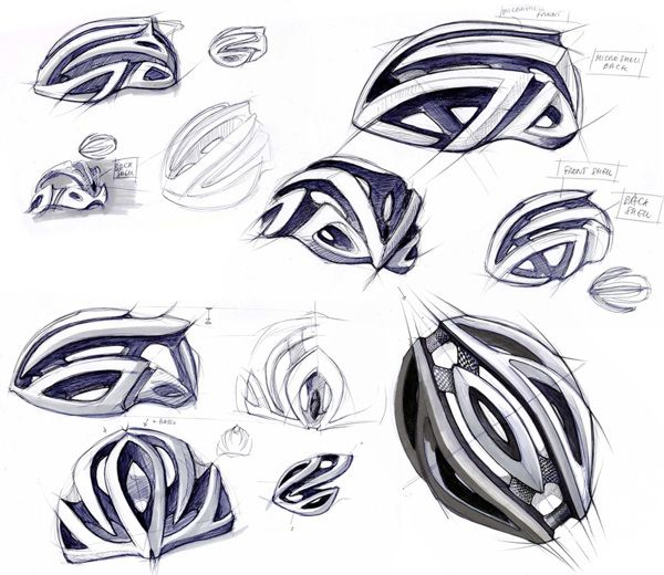 Amazing Helmet Sketches Id Industrial Design Product Sketch