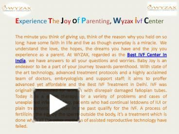 Best Surrogacy  Experience The Joy Of Parenting, Wyzax ivf Center