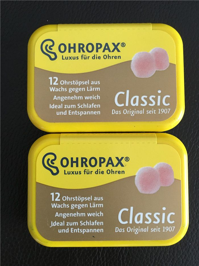 Original Ohropax Classic Wax Earplugs Comfortable Wax Ear Plugs Traval Sleeping Noise Reduction Earplugs