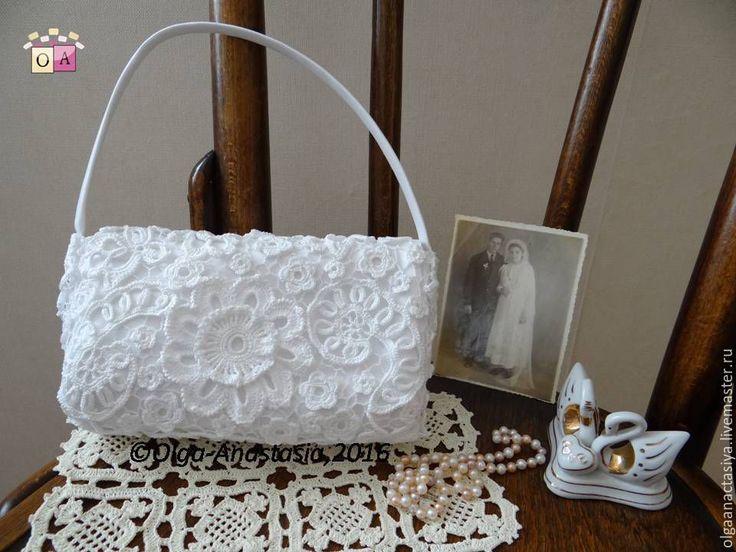 """Купить Свадебная сумочка """"Светлана"""",авторская работа - белый, свадебная сумочка, сумочка невесты, невеста"""