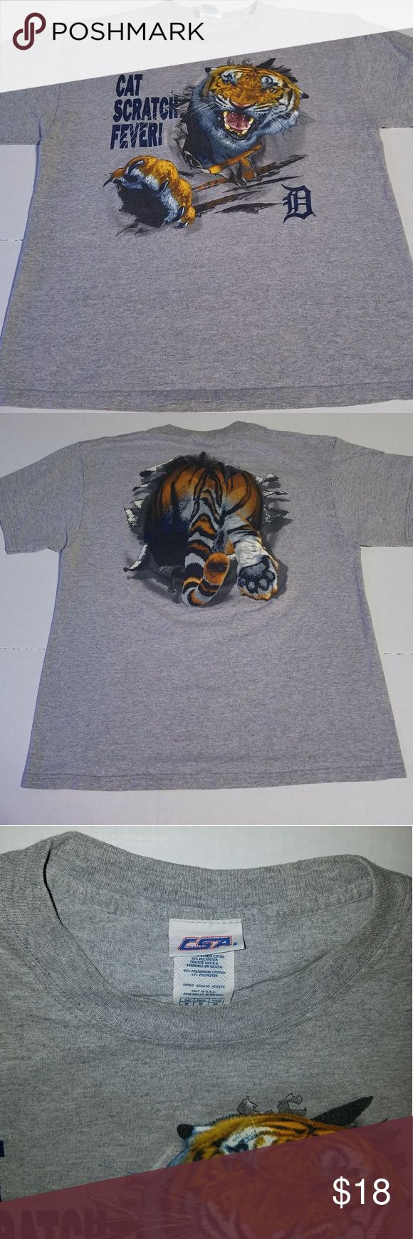 Vintage CSA Detroit Tigers 3D Crazy graphic piece with tiger booty in the back. Looks brand new. True medium. Nike Shirts Tees - Short Sleeve
