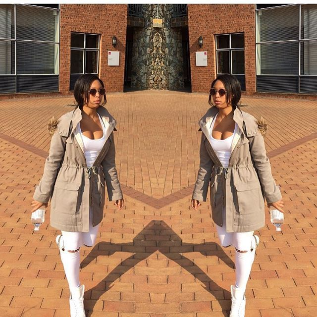WEBSTA @ minniedlamini - Winter is here...JHB is cold this morning❄️This jacket came in handy @woolworths_sa