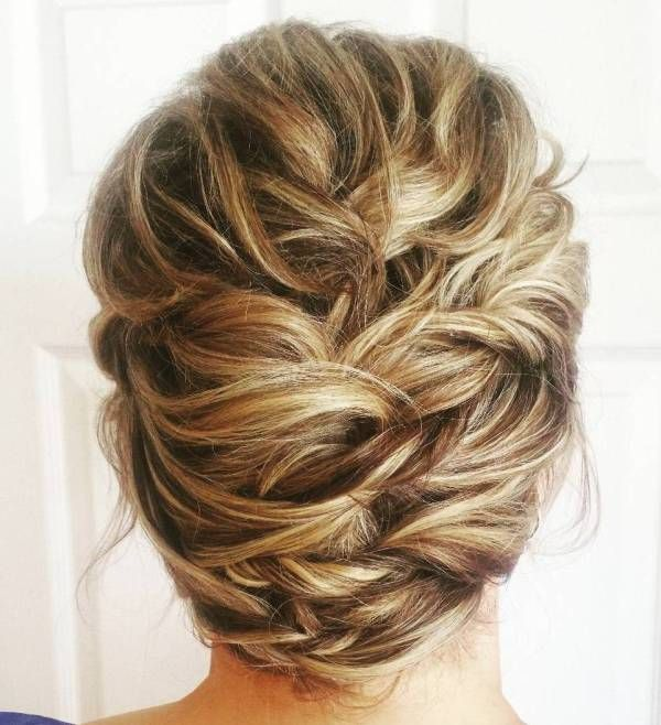 Twisted Updo For Shorter Hair
