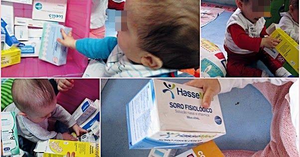 Fizemos um pedido muito especial a todas as famílias do berçário guardassem caixas vazias de produtos de higiene do bebé (de creme, pomada,...
