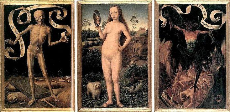 [show]Hans Memling (circa 1433–1494) Link back to Creator infobox template  Title   Deutsch: Triptychon der Irdischen Eitelkeit und der Himmlischen Erlösung