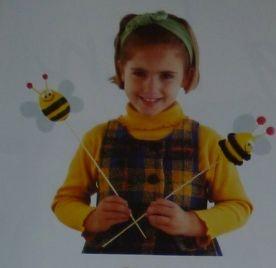 bijen op een stokje