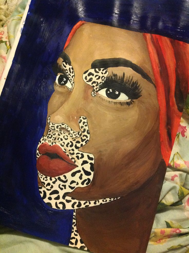 It went abit wrong but ohwell Chantelle Winnie Harlow acrylic painting  that I did