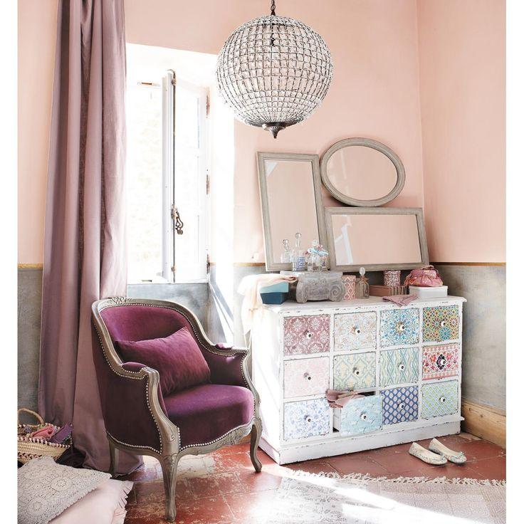 MAISONS DU MONDE Salonzetel paars MONTPENSIER Ook beschikbaar in andere kleuren: Linnen, antracietgrijs