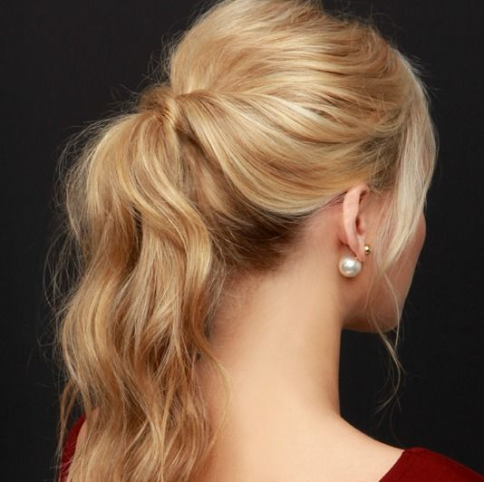 I love this hairstyle, want to try it out soon (:   LuLu*s How-To: Party Perfect Ponytail Hair Tutorial