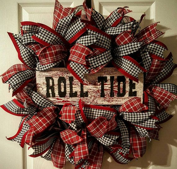 Check out this item in my Etsy shop https://www.etsy.com/listing/471131021/alabama-wreath-roll-tide-wreath-alabama