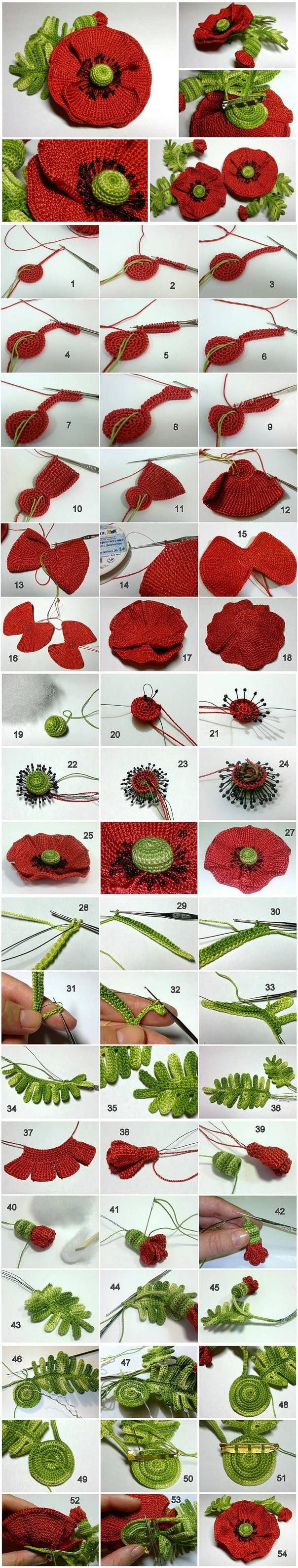 DIY Hand Crochet Flower LIKE Us on Facebook ==> https://www.facebook.com/UsefulDiy