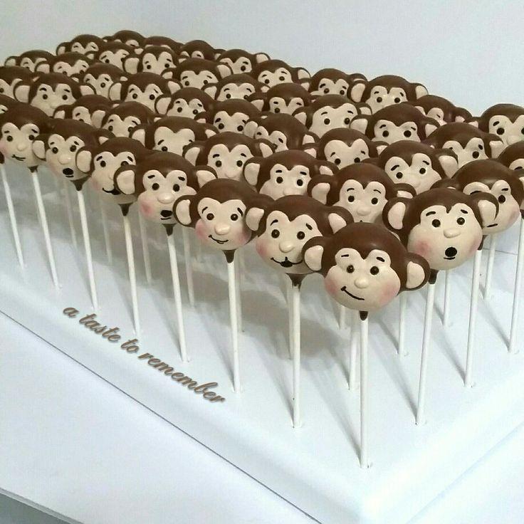 Silly monkey cake pops
