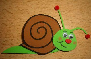 Goma Eva: Un simpático caracol - Molde