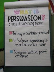 What is persuasion? anchor chart