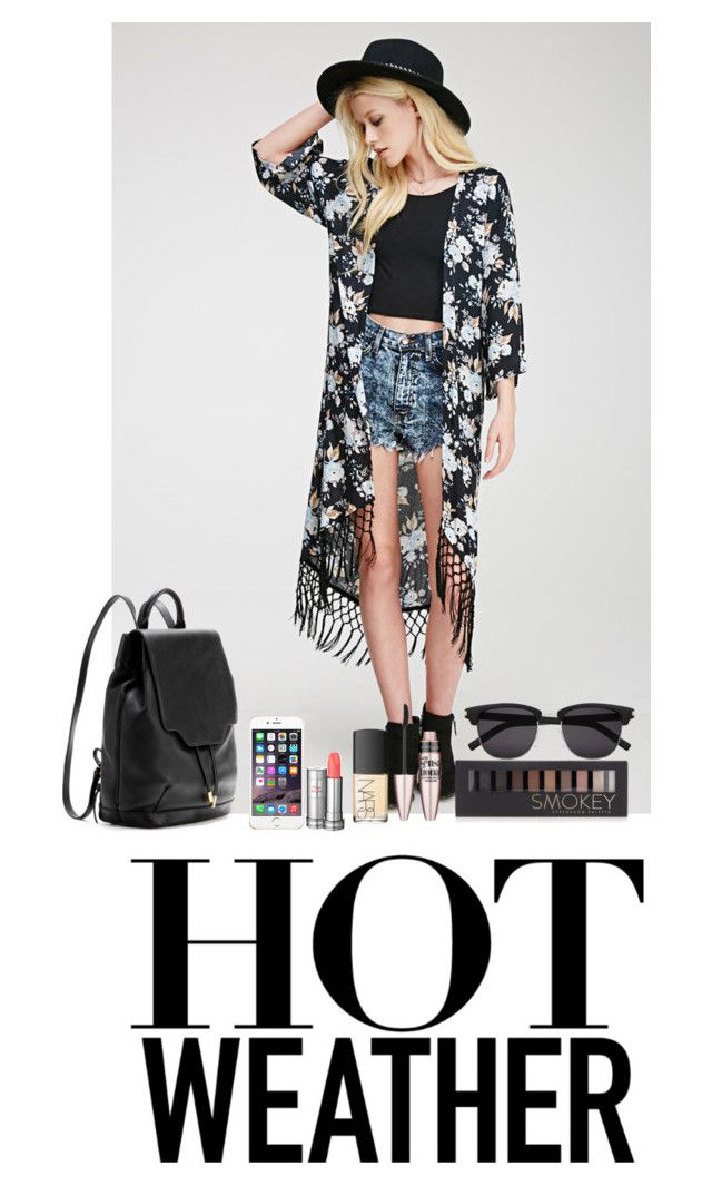 """""""Hot Weather"""" by ana-karen-aguilar ❤ liked on Polyvore featuring Forever 21, rag & bone, Yves Saint Laurent, Lancôme, NARS Cosmetics and Maybelline"""