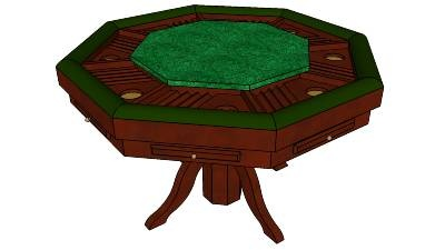 Poker table plans octagon woodworking projects plans for Poker table blueprints