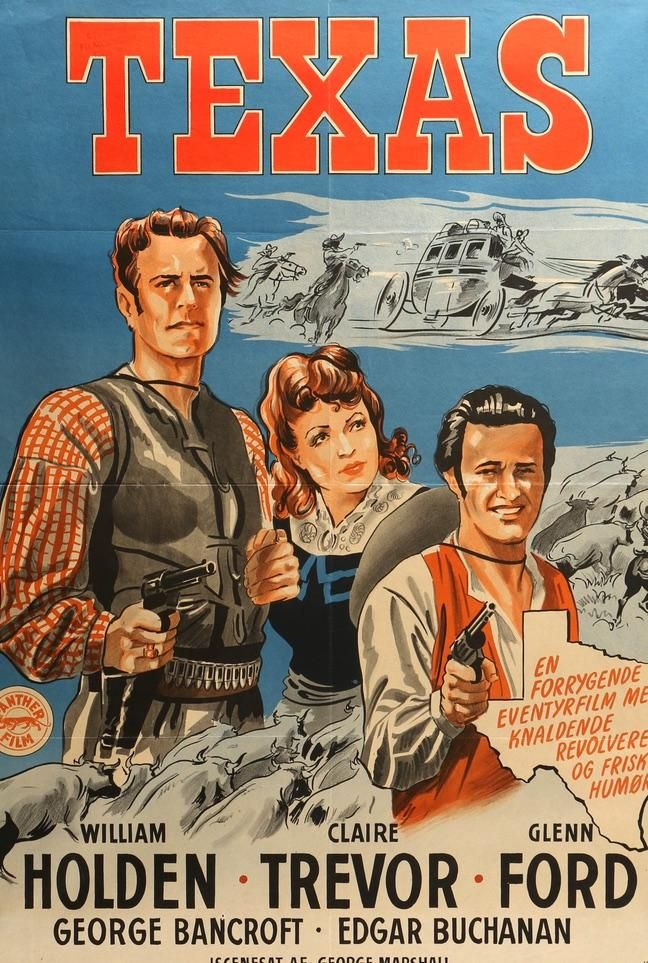 Texas (1941) Original Danish Movie Poster
